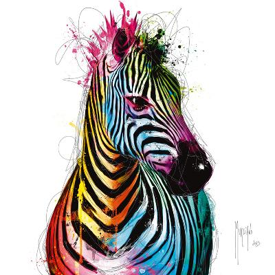 Zebra Pop-Patrice Murciano-Art Print