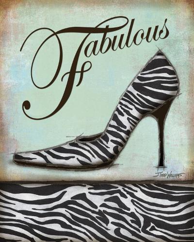 Zebra Shoe-Todd Williams-Art Print