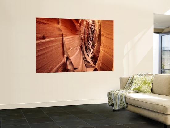Zebra Slot Canyon, Formed in Jurassic Age Navajo Sandstone-Karl Lehmann-Wall Mural