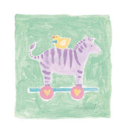 Zebra Toy-Karen Anagnost-Art Print