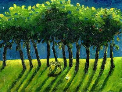 Zebra Trees, 2005-Gigi Sudbury-Giclee Print