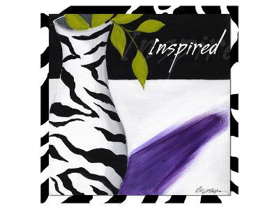 Zebra Vase I-Cathy Hartgraves-Art Print