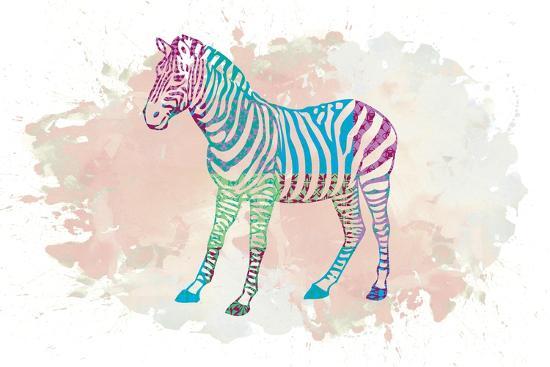 Zebra-Victoria Brown-Art Print