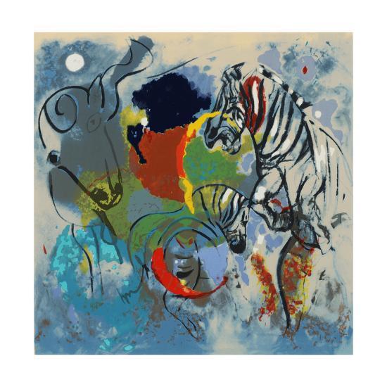 Zebras, 1988-Jane Deakin-Giclee Print
