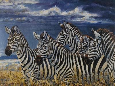 Zebras I-Peter Blackwell-Art Print