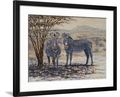 Zebras II-Peter Blackwell-Framed Art Print
