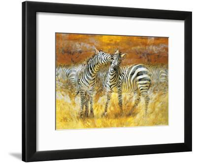 Zebras-Joaquin Moragues-Framed Art Print