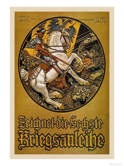 Zeichnet die Sechste Kriegsanleihe (Subscribe to the Sixth War Loan)-Maximilian Lenz-Art Print