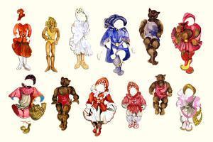 Goldilocks and three Bears Collage by Zelda Fitzgerald