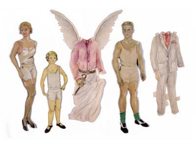 Paper Dolls of Scott, Zelda and Scottie