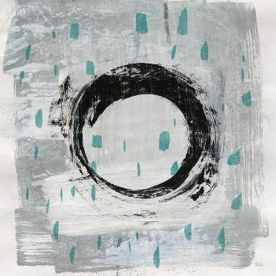 Zen Circle I Crop with Teal-Melissa Averinos-Art Print