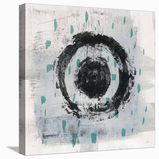 Zen Circle II Crop with Teal-Melissa Averinos-Stretched Canvas Print