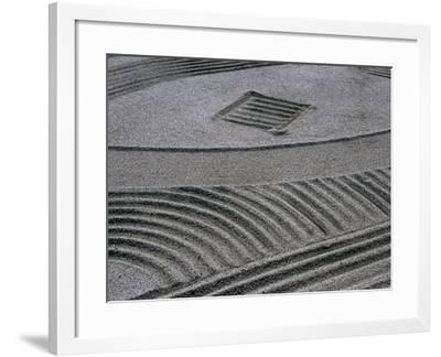 Zen Garden at Rengejo-In, Koya-San, Japan-Frank Carter-Framed Photographic Print