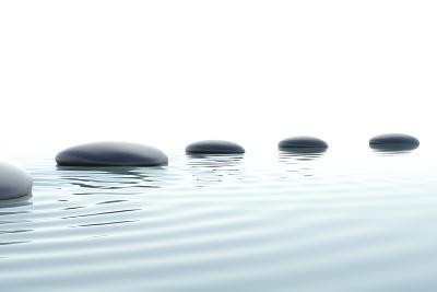 Zen Path of Stones in Widescreen-dampoint-Photographic Print