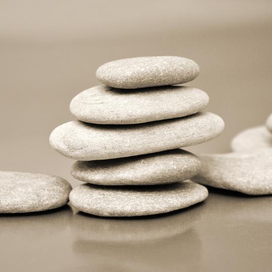 Zen Pebbles--Premium Photographic Print