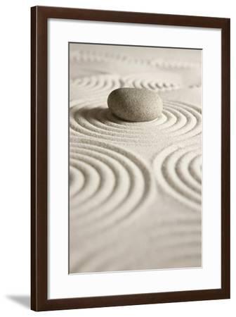 Zen Stone-og-vision-Framed Art Print