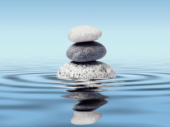 Zen Stones Balance Concept Photographic Print By Dmitry Rukhlenko