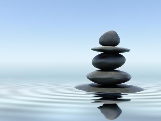 Zen Stones In Water Photographic Print F9photos Art Com