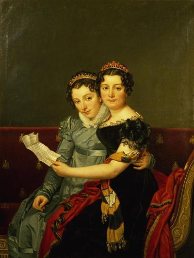 Zenaide and Carlotta, Daughters of King Joseph-Jacques-Louis David-Giclee Print