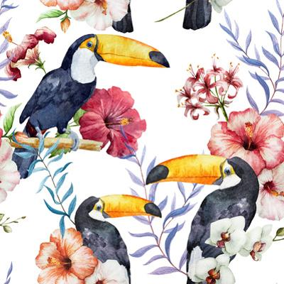 Tropics, Pattern, Toucan by Zenina