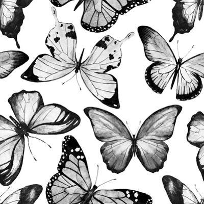 Watercolor Butterfly Pattern by Zenina