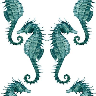 Watercolor Seahorse Pattern by Zenina