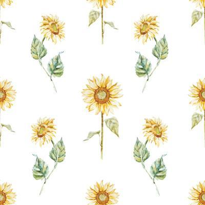Watercolor Sunflower Pattern by Zenina