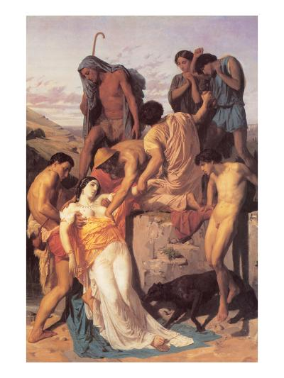 Zenobia Found by Shepherds on the Banks of the Araxes-William Adolphe Bouguereau-Art Print