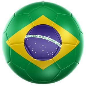 3D Rendering Of A Brazilian Soccer Ball Isolated On A White Background by zentilia