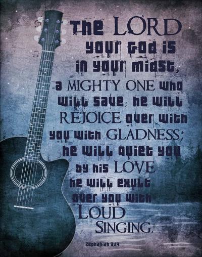 Zephaniah 3:17 The Lord Your God (Guitar)-Inspire Me-Art Print