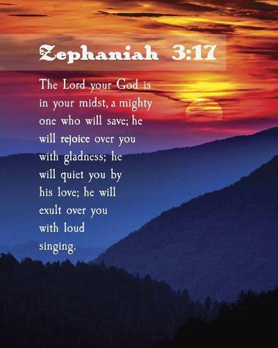 Zephaniah 3:17 The Lord Your God (Sunset)-Inspire Me-Art Print