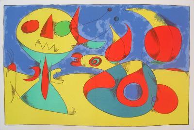 Zephir Vogel - Zephyr Bird-Joan Miro-Serigraph