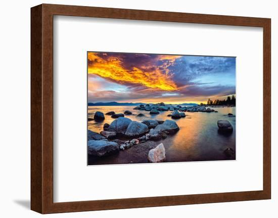 Zephyr Cove, South Lake Tahoe--Framed Photographic Print