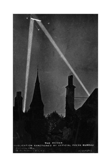 Zeppelin Downed 1916--Giclee Print