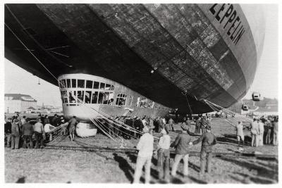 Zeppelin LZ 127 'Graf Zeppelin' after Landing, 1933--Giclee Print