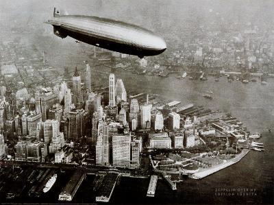 Zeppelin Over New York--Art Print