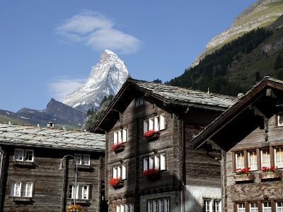 Zermatt and the Matterhorn Behind, Valais, Swiss Alps, Switzerland, Europe-Hans Peter Merten-Photographic Print