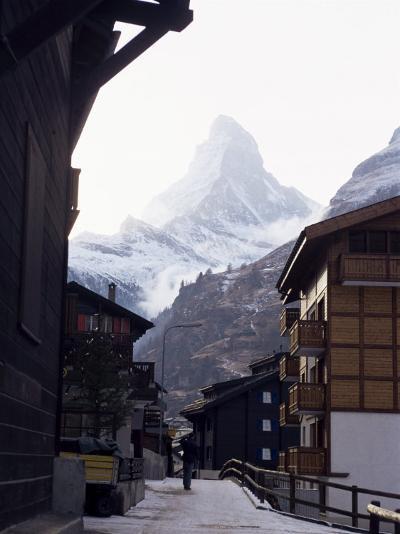 Zermatt and the Matterhorn, Swiss Alps, Switzerland-Adam Woolfitt-Photographic Print