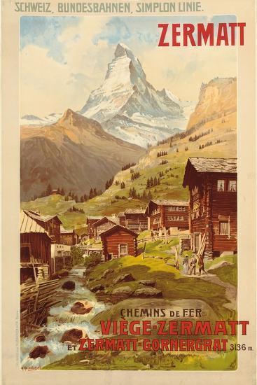 Zermatt, c.1900-Anton Reckziegel-Giclee Print