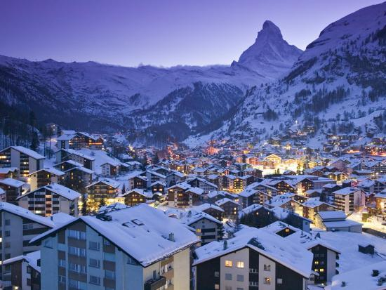 Zermatt, Valais, Switzerland-Walter Bibikow-Photographic Print