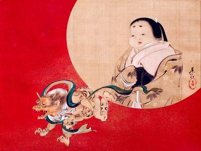 Otafuku and Demon