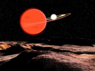 Zeta Piscium Is a Binary Star System Consisting of a Red Giant and a White Dwarf-Stocktrek Images-Photographic Print