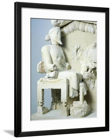 Zeus and Hera Welcoming Hercules to Olympus, Archaic Pediment from Acropolis of Athens, Greece--Framed Photographic Print