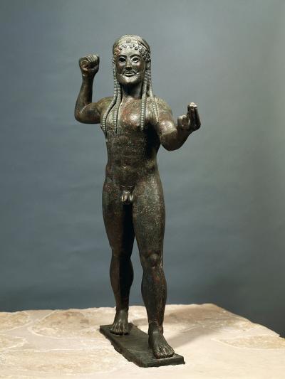 Zeus or Poseidon, Bronze Statue from Ugento in Apulia, Italy--Photographic Print
