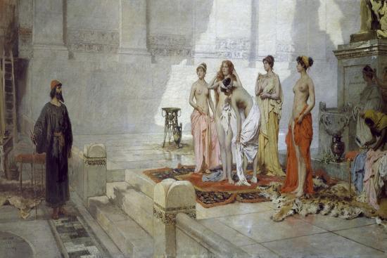 Zeuxis and Maidens of Croton-Eleuterio Pagliano-Giclee Print