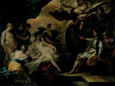 Zeuxis and the Maidens of Croton-Francesco Solimena-Giclee Print