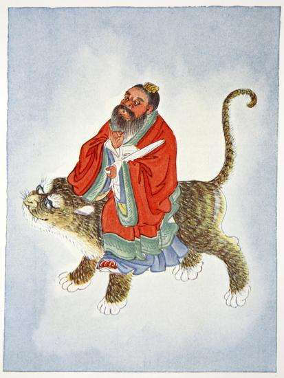 Zhang Daoling, Chinese Taoist hermit and philosopher, 1922-Unknown-Giclee Print