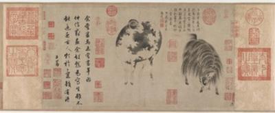 Sheep and Goat, Yuan Dynasty, C.1300 by Zhao Meng-Fu