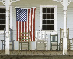 Chair Family with Flag by Zhen-Huan Lu