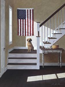 Dog on Stairs by Zhen-Huan Lu